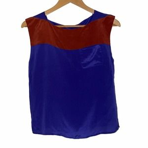 French Connection Color Block Sleeveless Blouse